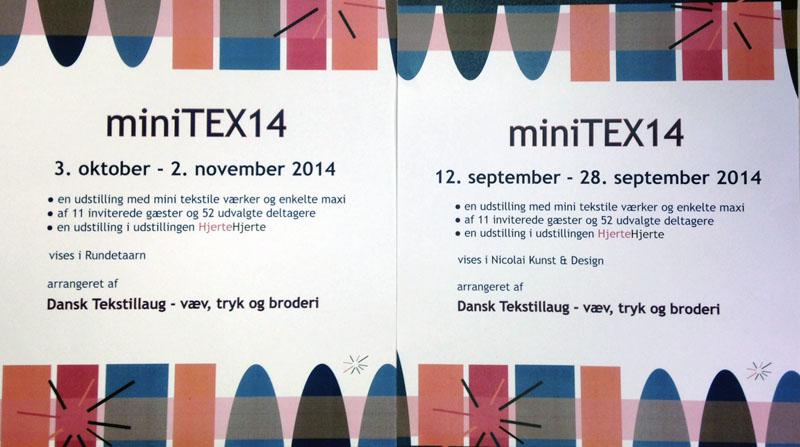 affisch till utställningen miniTEX 14 i Danmark